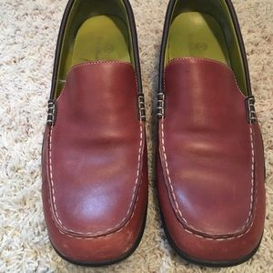 EUC brown loafers/driving mocs